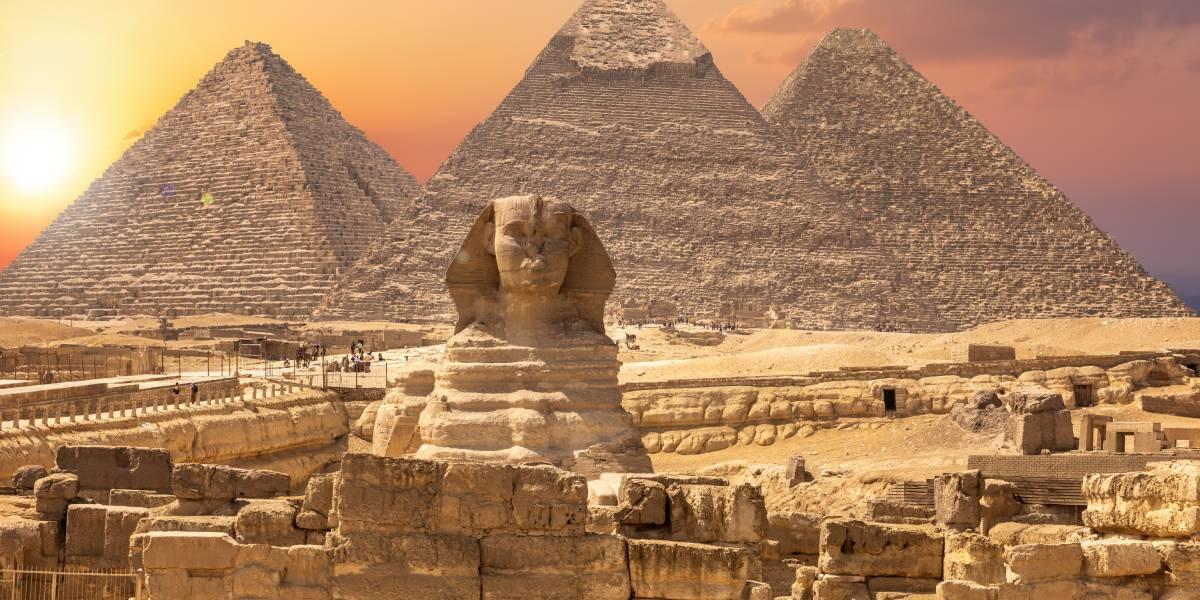 Piramides in Egype - Wereldwonderen